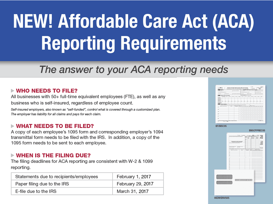 New! Affordable Care Act (ACA) Reporting Requirements